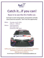 NASCAR Event at Total Automotive July 25, 2-5pm 2019